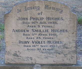 Grave of A.S. and R.V. Hughes